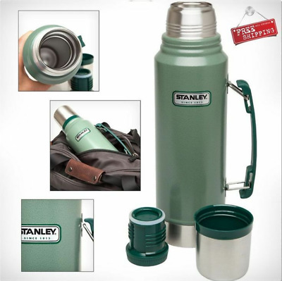 Thermos Vacuum Stanley Coffee Bottle Classic Stainless Steel Hammerton 1.1 Quart