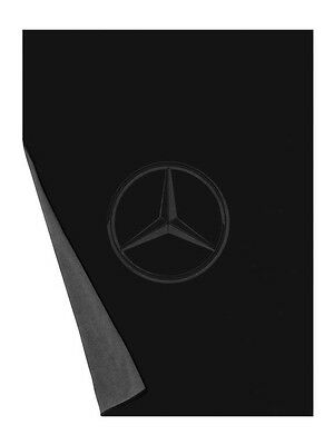 Genuine Mercedes-Benz Grey/Black Double Sided Fleece Blanket B67871618 NEW