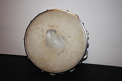 (AA-10840, B12) Antique Tamborine, purcussion, sound-maker, symbols, Age unknown