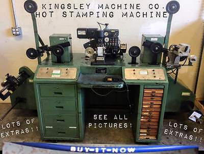 Kenrake Wire Spooling/Spooler Machine with Kingsley Hot Stamping Machine