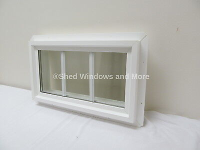 "10"" x 18"" Double Pane Transom Window PVC Insulated with Grids"