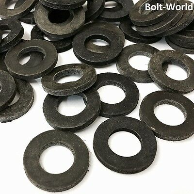 50 x ASSORTED FORM A BLACK NEOPRENE THICK RUBBER WASHERS M3 M4 M5 M6 M8 M10 KIT