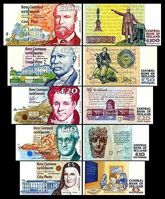 * * * 5,10,20,50,100 Irish Pounds - Issue 1992 - 2001 - 5 Banknotes - 01 * * *