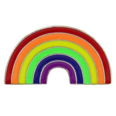 Rainbow Enamel Pin Badge Retro Jacket Lapel Pride LGBT Aussie Seller