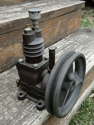 Antique Vintage Old Cast Iron Belt Driven Air Compressor, Patent 1933, Steampunk