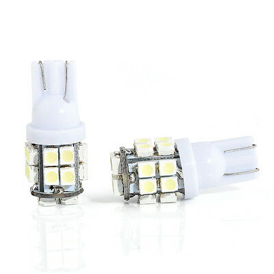 2pcs T10 W5W 194 168 501 20SMD White LED Car Inverted Side Wedge Light Bulbs 12V
