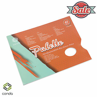 "Artist Disposable Palette Paper Large Pad 40 Sheet 9""x12"" CONDA Painting Supply"