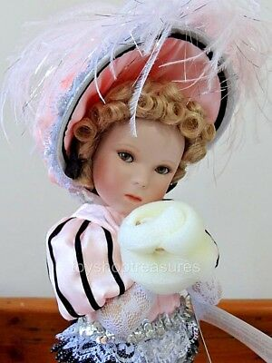 Shirley Temple La Belle Diapererina porcelain doll by DANBURY MINT -  in Box