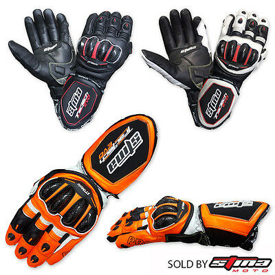 Winter Leather Gloves Motorcycle Motorbike Racing Thermal Extra Protection Black