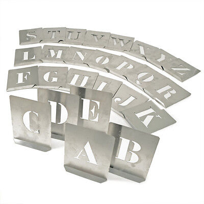 Kennedy 100Mm (Set Of 26) Steel Stencil Letters
