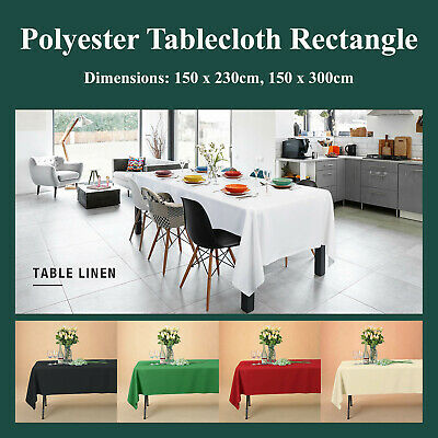 Rectangle Polyester Tablecloth Table Cover Rectangular Cloth Economy Home Décor