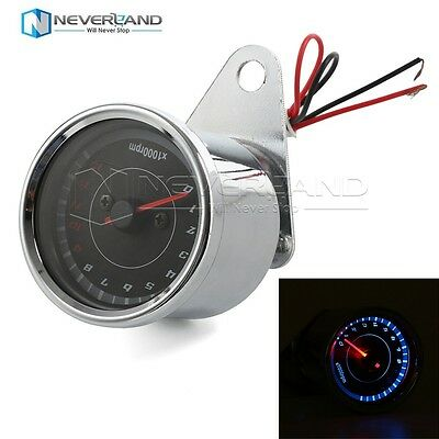 Universal Motorcycle Led Speedometer Tachometer Gauge RPM for Harley Custom