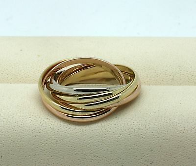 CARTIER Trinity 7 Band Ring 18kt Gold RW49