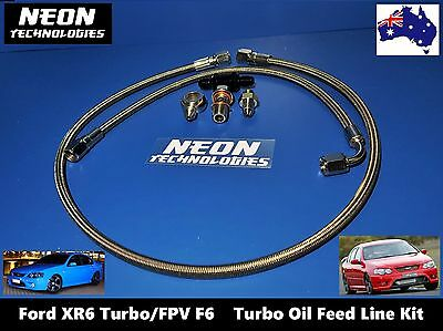 OIL FEED LINE KIT Ford XR6 Turbo / FPV F6 *BA BF GT3576R GT3582R GT3584R* Filter