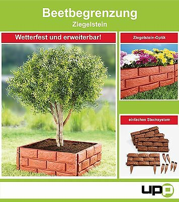 UPP Flower bed border Brick 8 St Lawn edge/ Palisading/ Garden wall/ Protection