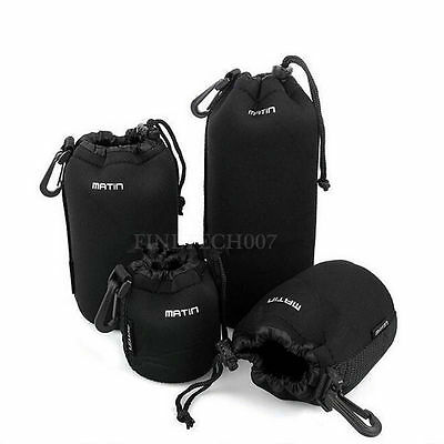 Matin Neoprene waterproof Soft Camera Lens Pouch bag Case Size- S M L XL OE