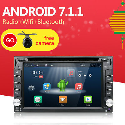 2USB Available Android 6.0 2 DIN GPS Navigation Car Stere Player WIFI SWC+2G RAM