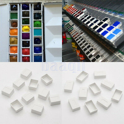 10 X Water Colour Artist Empty Pan Full or Half Pans For Watercolour Painting MA