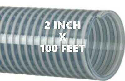 Kanaflex 112 CL2  2 inch Water Suction Hose Clear PVC - 100 FT. ROLL