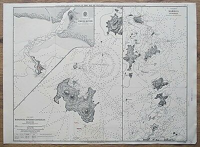 1861 Bay Of Panama Bayoneta & Pedro Gonzales Islands Vintage Admiralty Chart Map