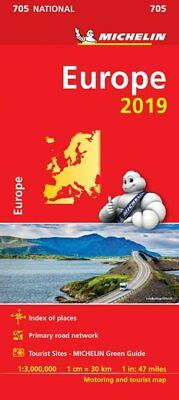Europe 2018 National Map 705 by Michelin - Folded Sheet Map