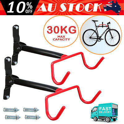 2x Bike Bicycle Steel Holder Rack Stand Storage Wall Mount GarageHook Hanger