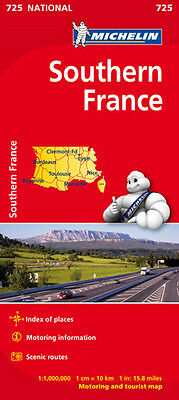 Southern France National Map 725 - Folded sheet map