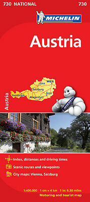 Austria National Map 730 by Michelin NEW 2017