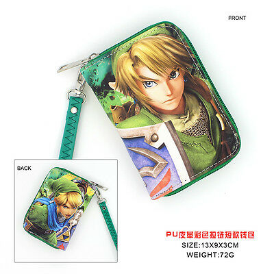 Anime The Legend of Zelda  Cosplay PU Leather short Purse Wallet