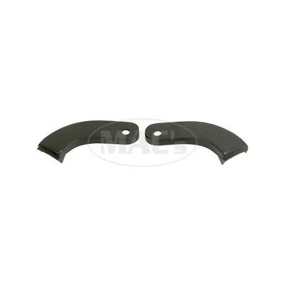 Ford Bucket Seat Hinge Covers, Outers, Black, Pair, Falcon, Galaxie, 60-79496-1