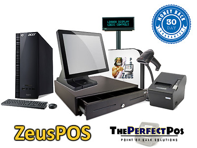 New Restaurant Point of Sale All In One System w/ All Peripherals ZeusPOS Bundle