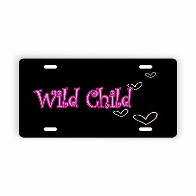 """Personalized Name Text Hearts Novelty License Plate 6"""" x 12"""" Personalized Custom"""