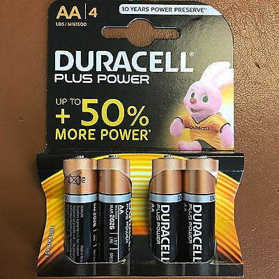 Duracell Plus Power Aa Batteries - Double A - 4 Pack 1.5V Non Rechargeable