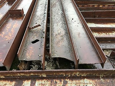 "Lot of 10: 18' Long Wide Flange Steel Beams 12"" x 6"" w 3/8"" Flange & 1/4"" Web"