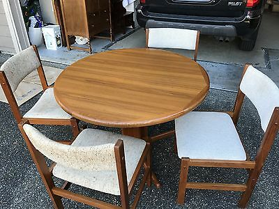 Beautiful Sun Furniture Mid Century Modern Danish Teak Dining Table Set