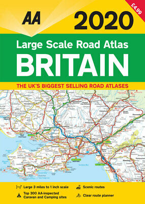 AA Britain Large Scale Road Atlas A3 2019
