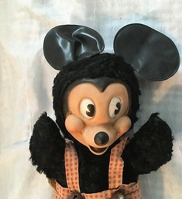 Vintage Gund Mickey Mouse Character Doll Stuffed Toy Animal TLC Display As Is