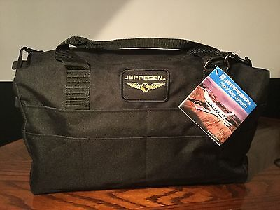 Jeppesen Black Flight Bag #JS621212. Large! Pilot,Airplane,Helicopter Training