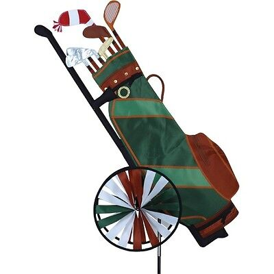 Golf bag caddy Wind spinner Garden decoration