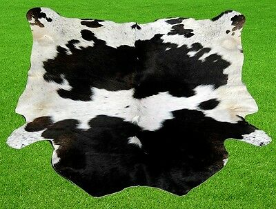 """New Cowhide Rugs Area Cow Skin Leather 9.76 sq.feet (38""""x37"""") Cow hide MB-10294"""