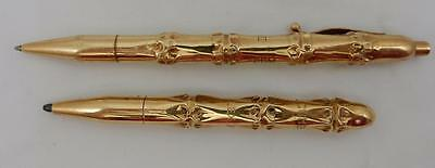 Beautiful Tiffany & Co Solid 14kt Yellow Gold Pen & Pencil Set 57.4 grams,  PZ15
