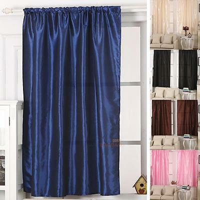 Blackout Window Curtains Bedroom Living Room Theral Solid Drape Panel 130x190cm