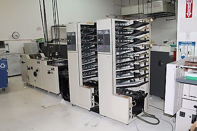 Duplo 8000S Twin Tower Collator Bookletmaker Stitch, Fold, Trim  Low Usage