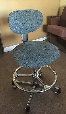 VTG Architectural Industrial Chrome CRAMER Drafting Stool Chair Rolling Swivel