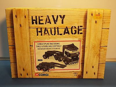 Corgi Heavy Haulage No 12909 Scania Topline with 2 Jeep dollies Cadzow MB