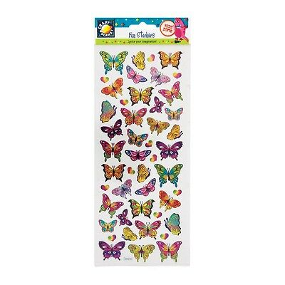 Craft Planet Fun Holographic Butterfly Foil Stickers | Butterflies | 47Pcs | A70
