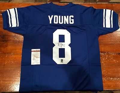 Steve Young Autographed Custom Brigham Young BYU Cougars Jersey 49ers JSA & GTSM