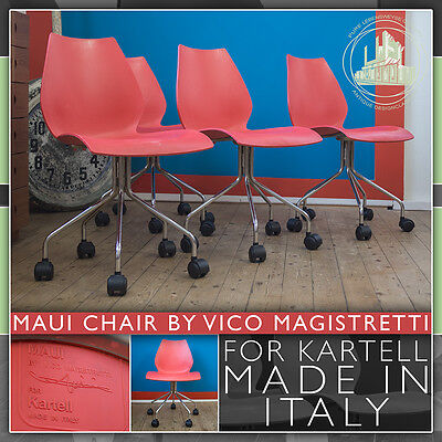 Rollable Red Kartell Vintage Vers Mid Century Modern Maui Chair Stuhl 1997 Plus