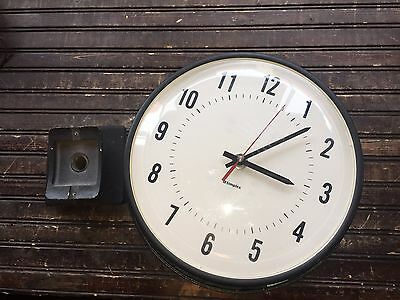 Simplex Double Sided Commercial School Electric Round Wall Clock 6310-9231& 9239
