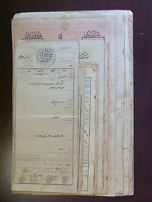 SYRIA SYRIE LATAKIA OTTOMAN Occ. 45 DEED DOCUMENTS W/ REVENUE Stamps